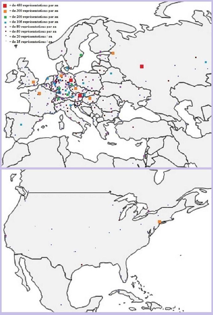 L'art lyrique en Europe et en Amérique du nord