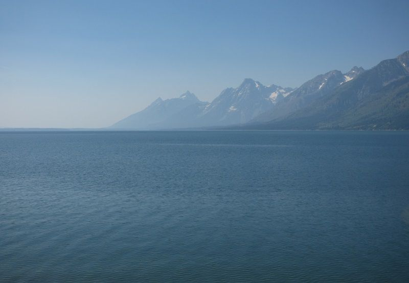 Jackson Lake et le massif de Grand Teton