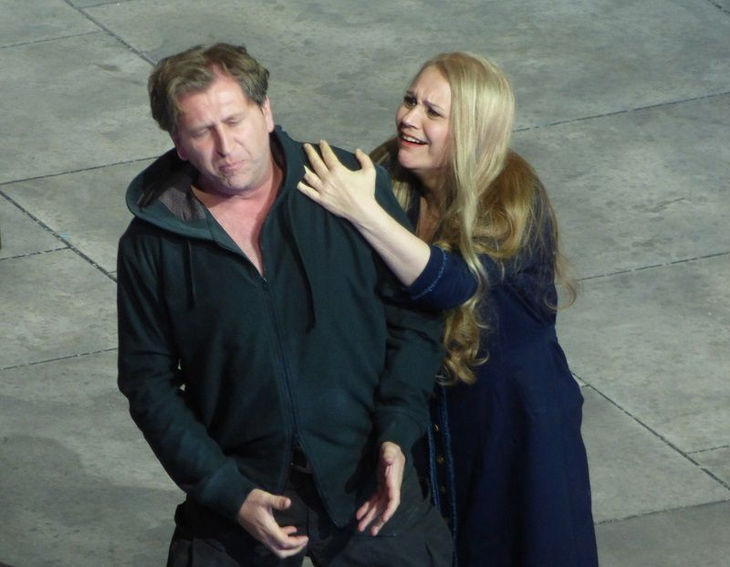 Andreas Schager (Parsifal) et Anja Kampe (Kundry)