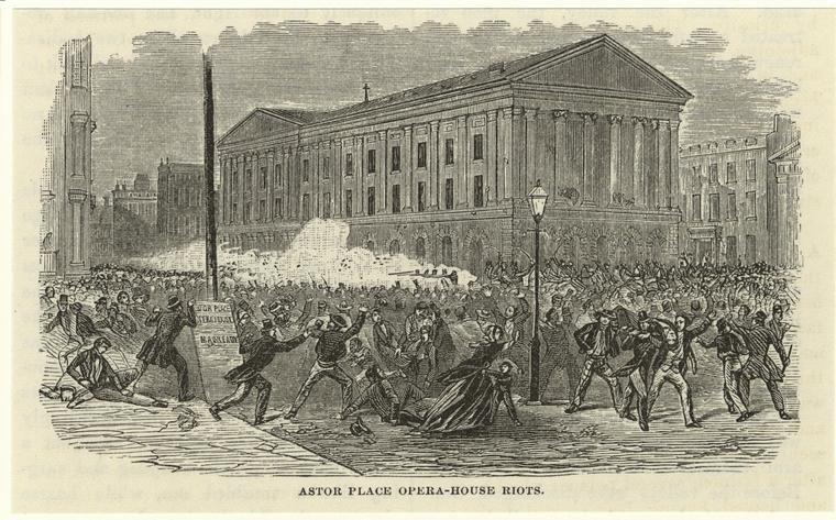 Émeutes devant Astor Place Opera House - 1848