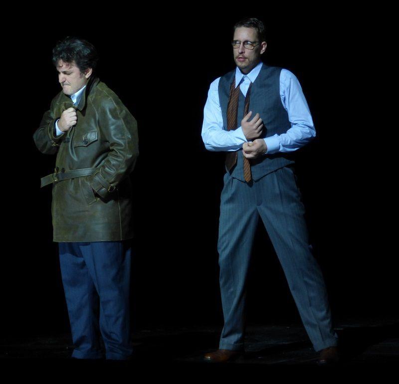Ludovic Tézier (Simon Boccanegra) et Mika Kares (Fiesco)