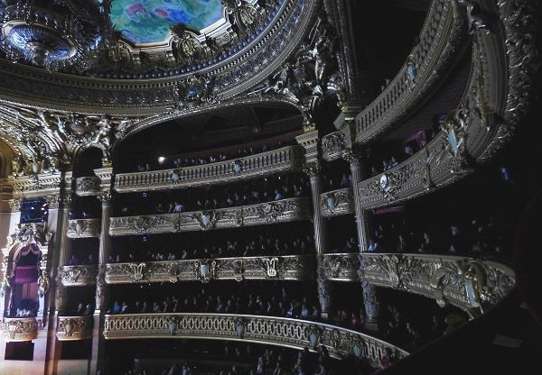 Loges du Palais Garnier au cours d'une représentation