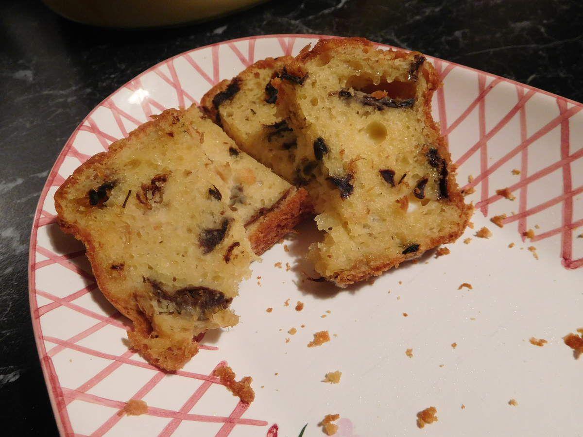 Cake aux asperges et girolles