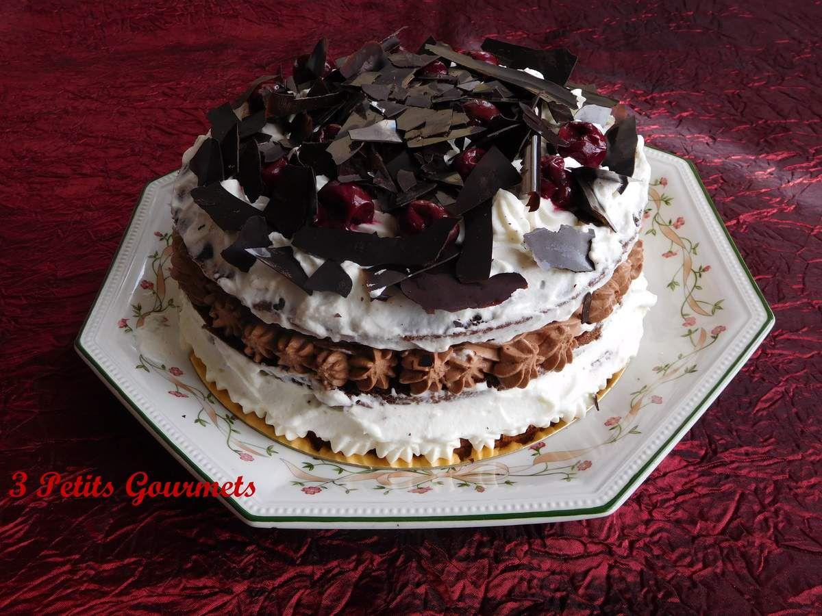 Forêt noire : des griottes, du chocolat et de la Chantilly...Hmmm...