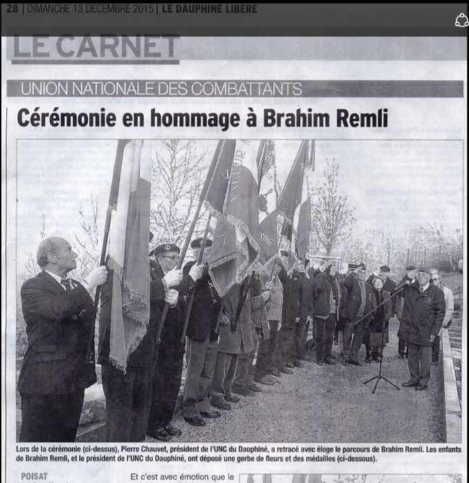 DL : Cérémonie en hommage à Brahim Remli