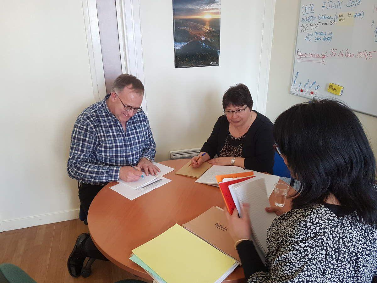 Votre section Préfecture au travail pour préparer la rencontre de ce jour avec le secrétaire général de la Préfecture du Pas-de-Calais