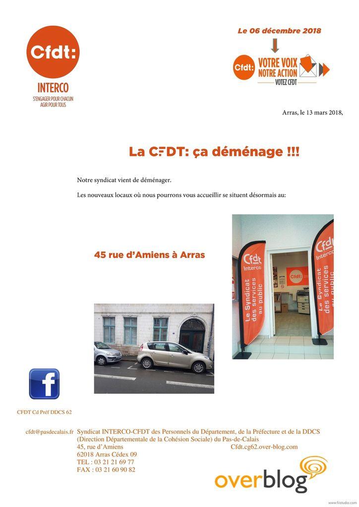 Vos nouveaux locaux CFDT vous accueillent au 45 rue d'Amiens à Arras!