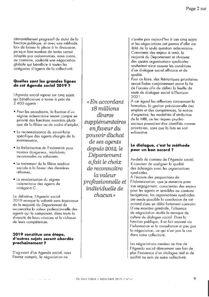 Le dialogue social: au service des agents et des usagers!