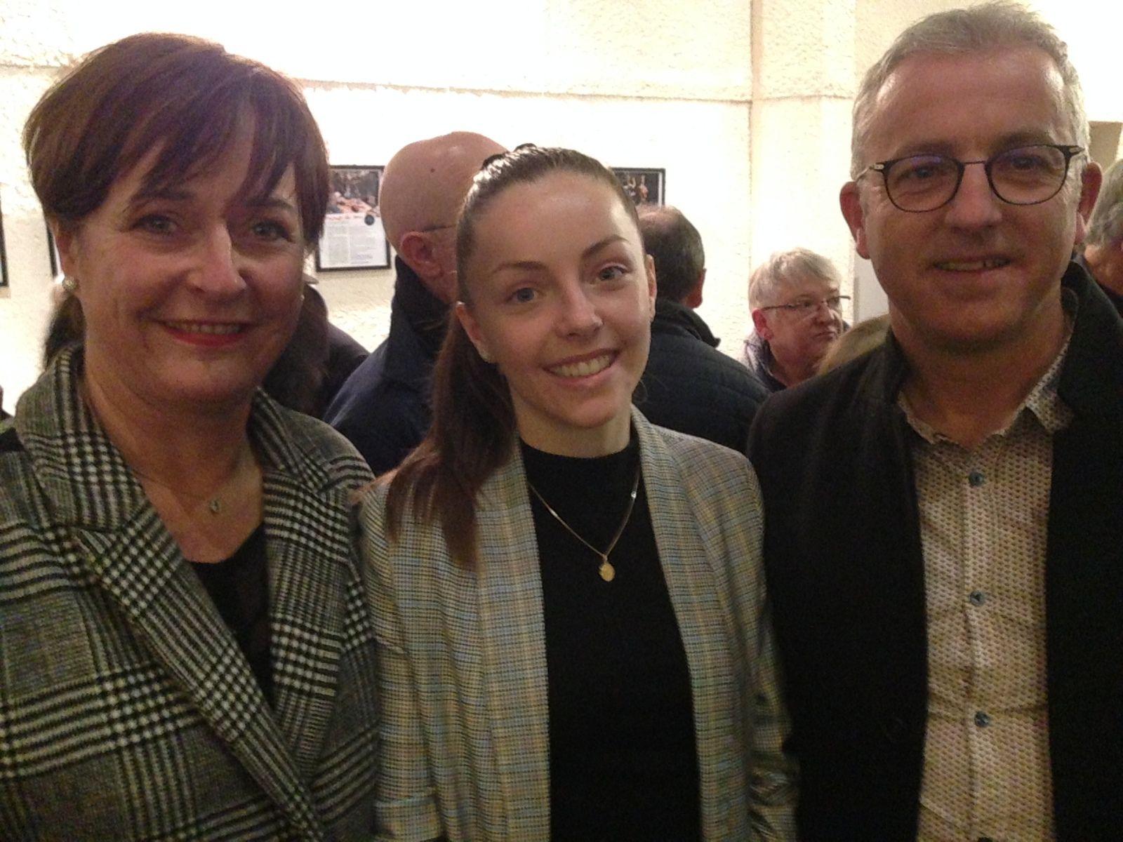 Avec Papa Pascal et Maman Annie.