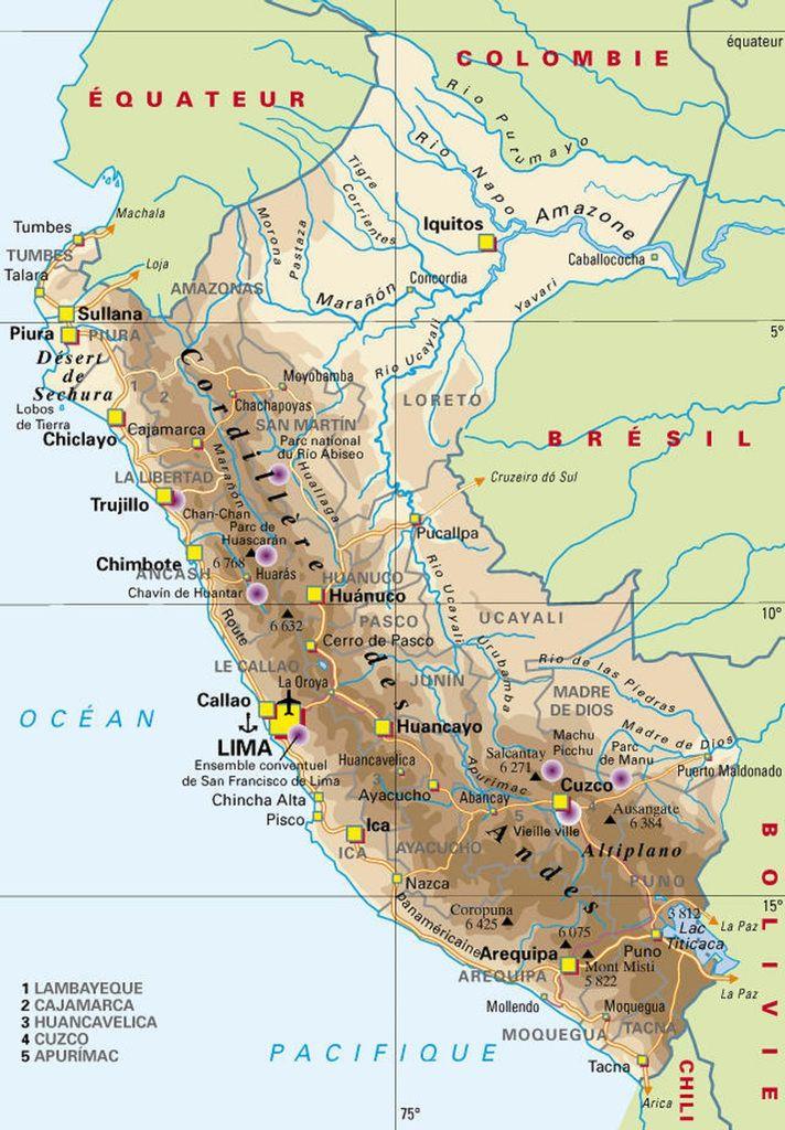 La géographie du Pérou