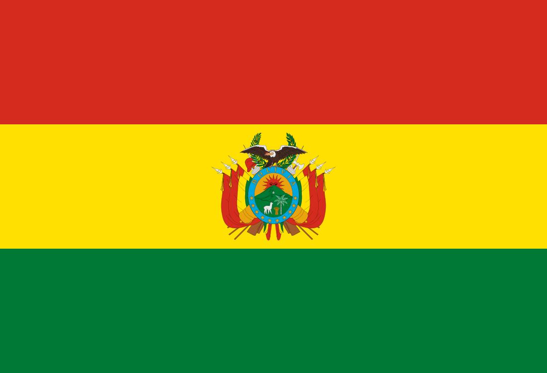 Le drapeau bolivien, le président Evo Morales