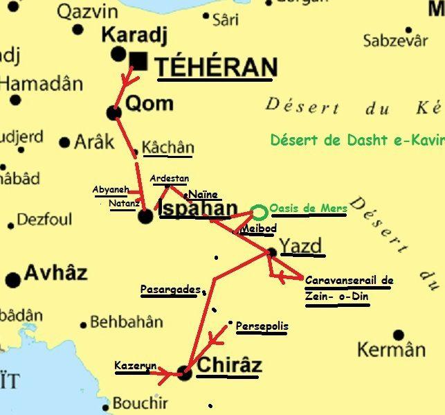 Notre circuit : Provinces du Fars, Yazd, Ispahan, Quom et Téhéran