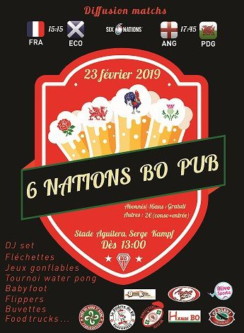 Tournoi des Six Nations au PUB Kampf