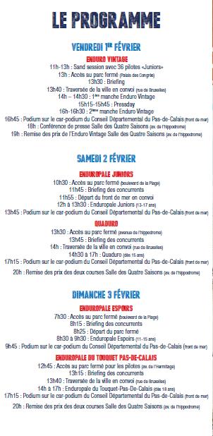 C' EST BIENTÔT L'ENDUROPALE DU TOUQUET PAS DE CALAIS....LES 1 , 2 ET 3 FEVRIER !