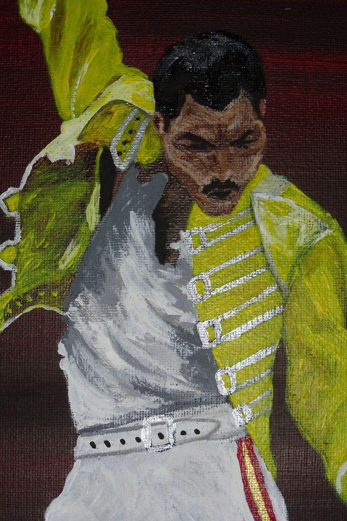 "Tableau contemporain ""Freddie Mercury"""