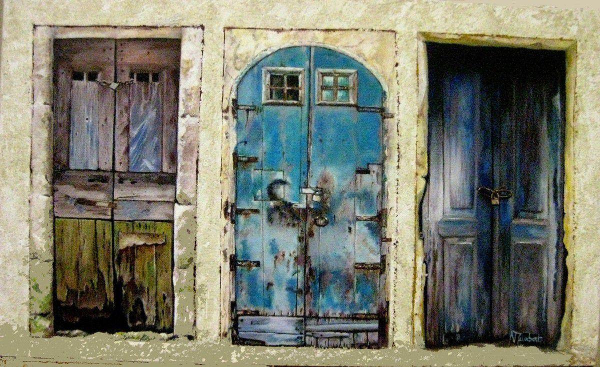 Nadine démarre fort avec ces vieilles portes en bois !! Pas facile à réalisé mais le résultat est là !!