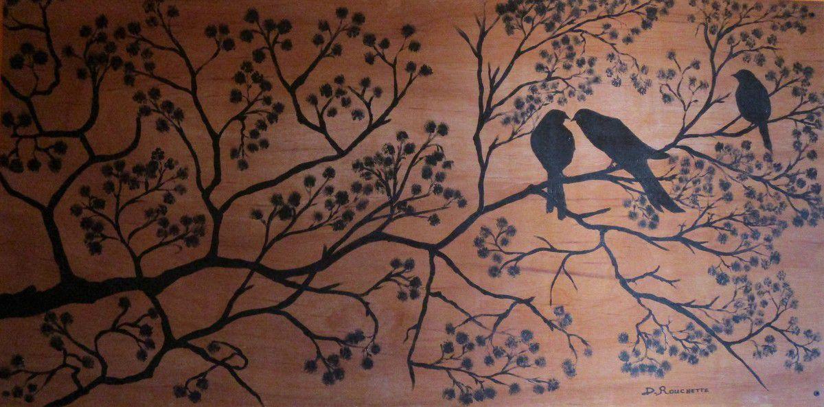 Les oiseaux sur la branche