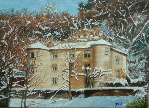 Ce magnifique château sous la neige, a été réalisé par Ded d'après photo. Bravo à l'artiste, toujours en progrès !
