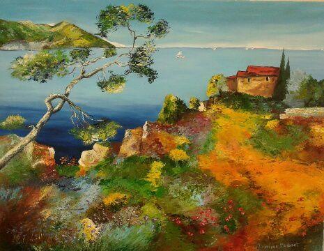 Magnifique peinture à l'huile réalisée au couteau par Dominique ! Bravo !!!
