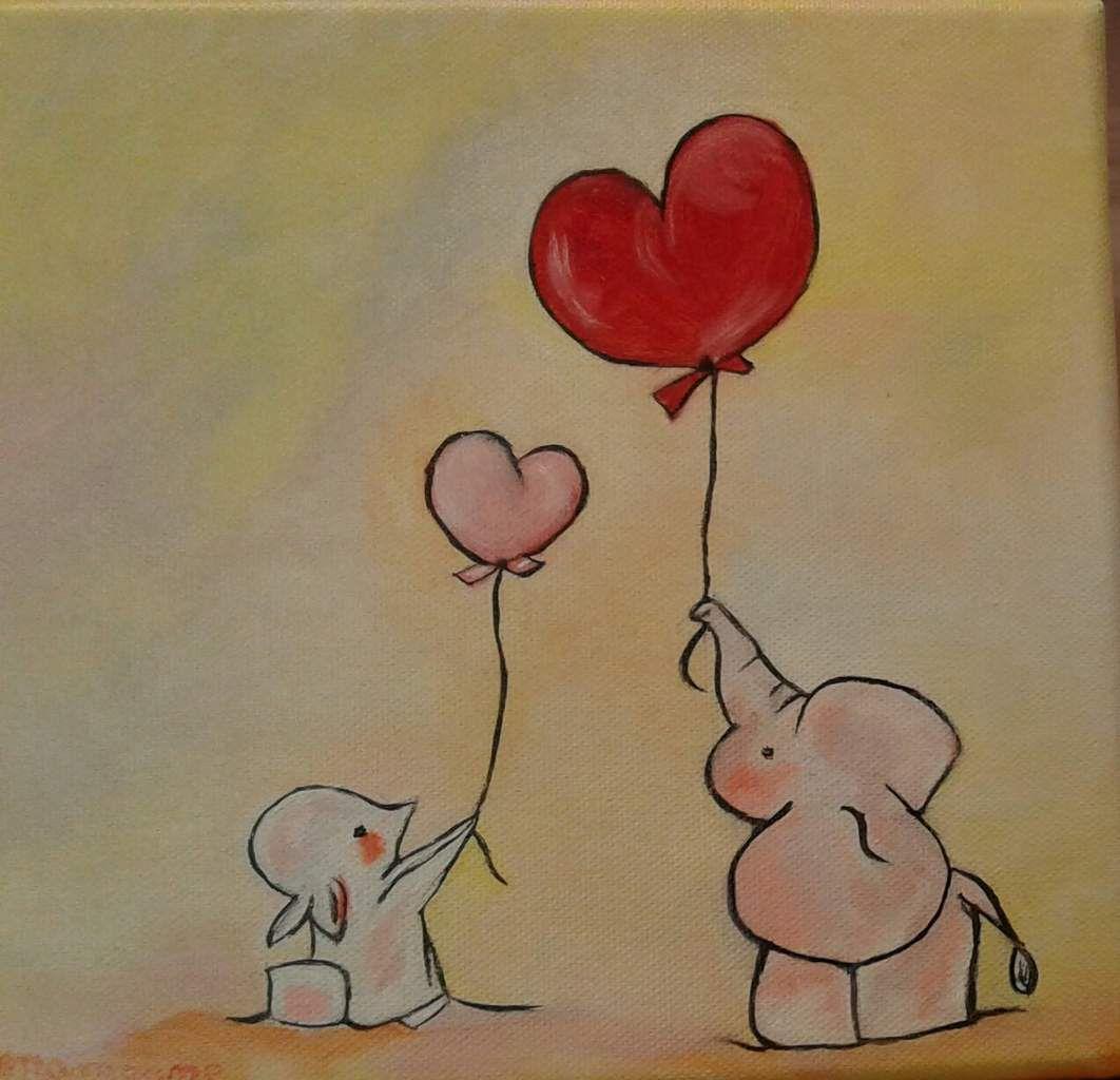 Ce joli tableau, si doux, réalisé à l'huile par Mamoune, va faire le bonheur d'une fillette !