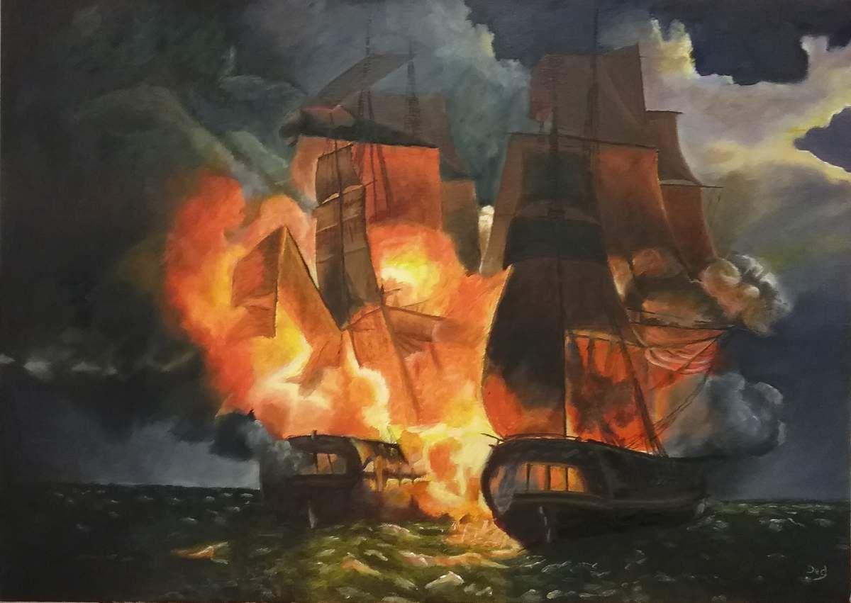 Magnifique peinture peint à l'huile par Ded, d'après Louis-Philippe CREPIN. Bravo Ded !!