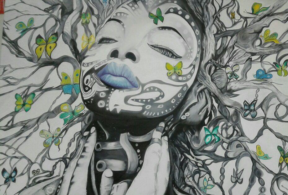 Avec les papillons !!
