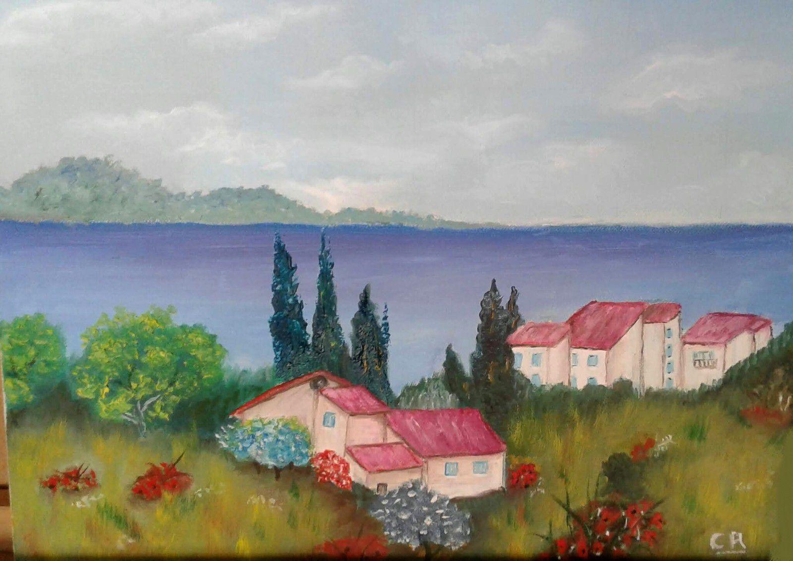 Peinture à l'huile réalisée par Claude. Très doux, j'aime beaucoup. Bravo Claude !!