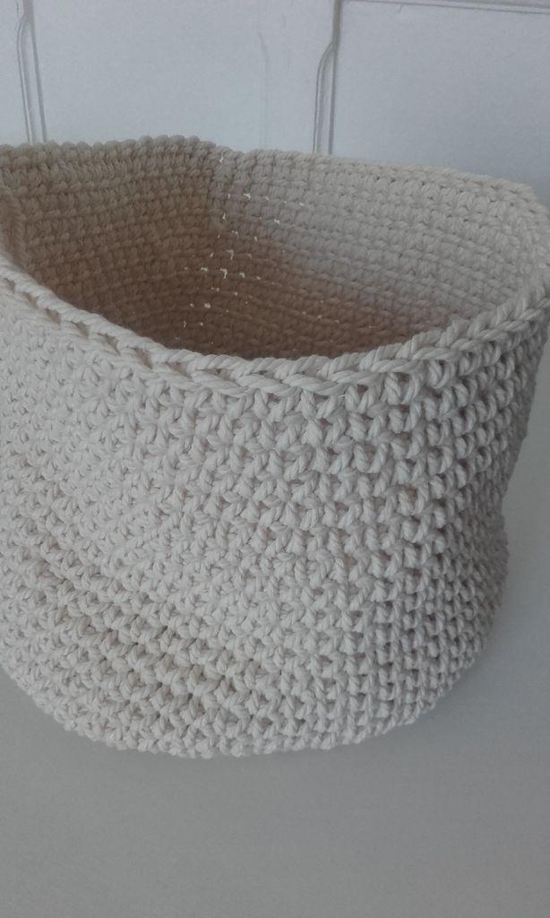 Crochet : grande panière souple
