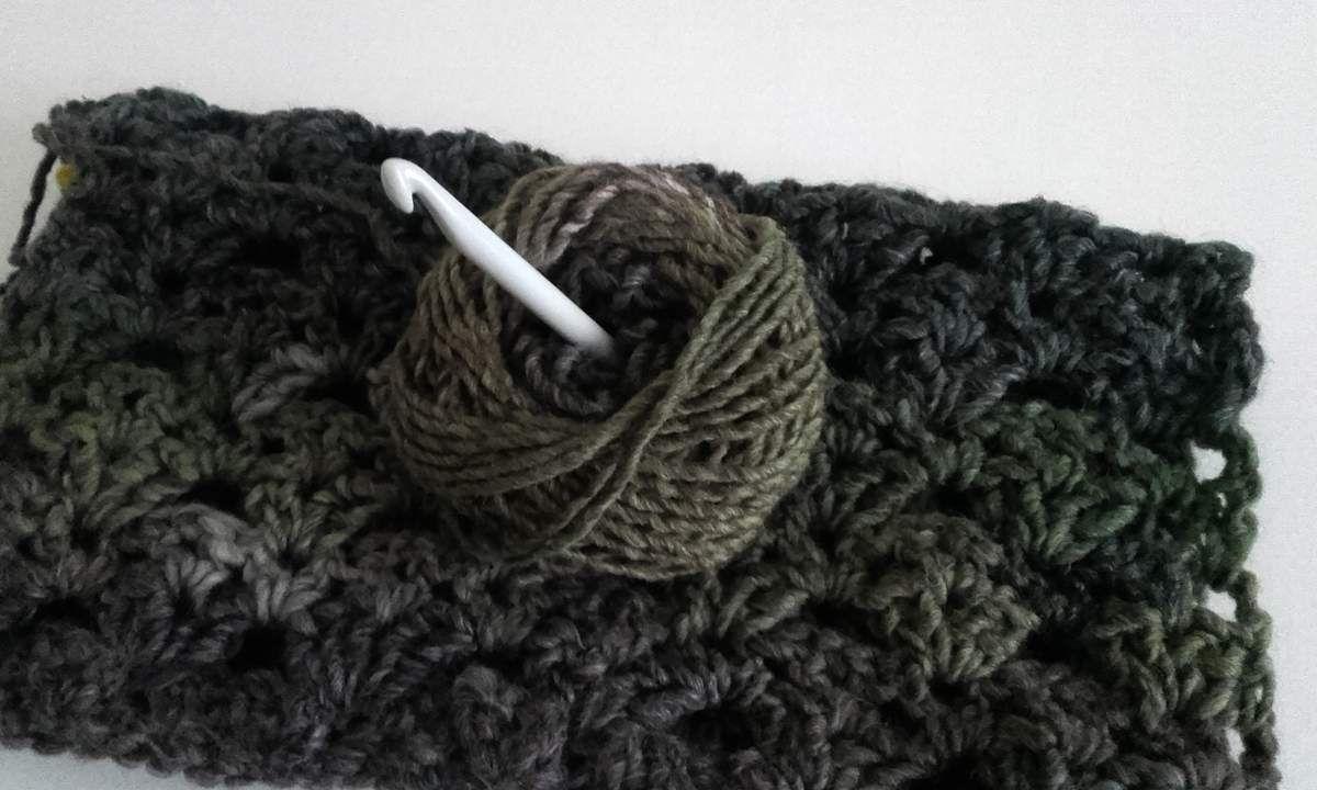 Crochet : laine dégradée