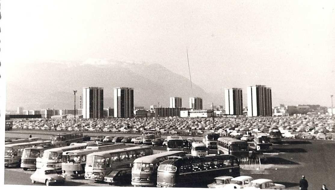 Parking Alpexpo pendant le jeux olympiques de 1968