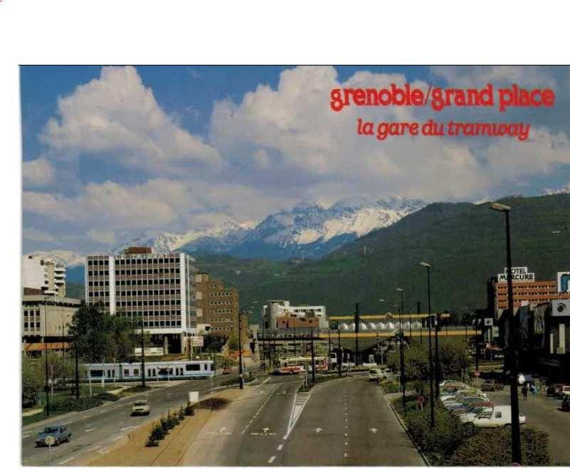 Arrivée vers Grand'place - le tramway a remplacé les bus