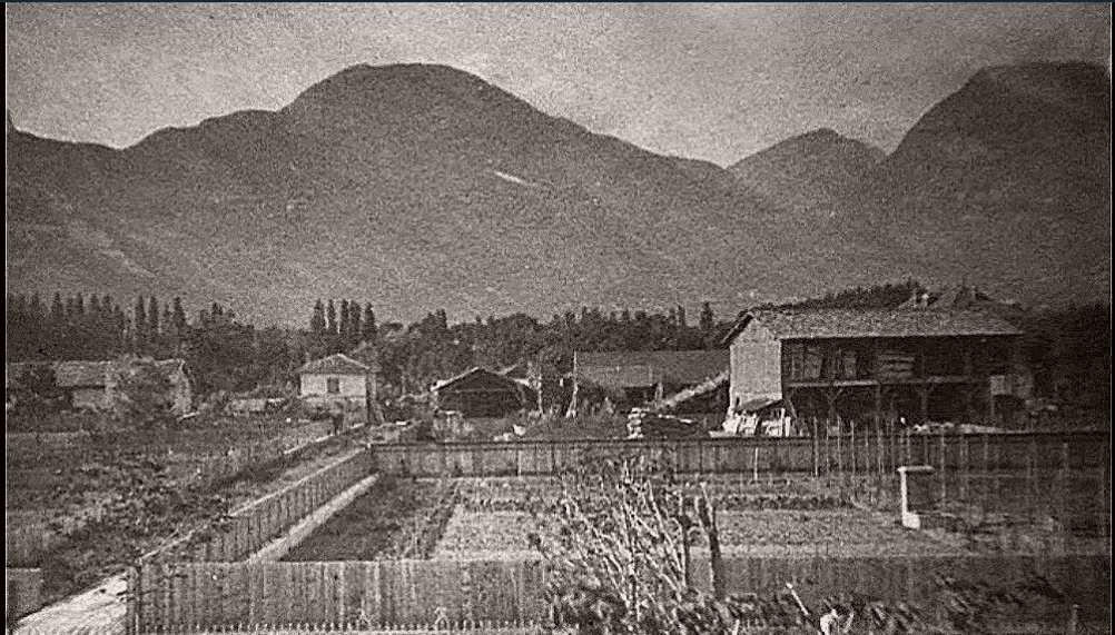 Avant la construction ; Le Chatelet, c'étaient les jardins