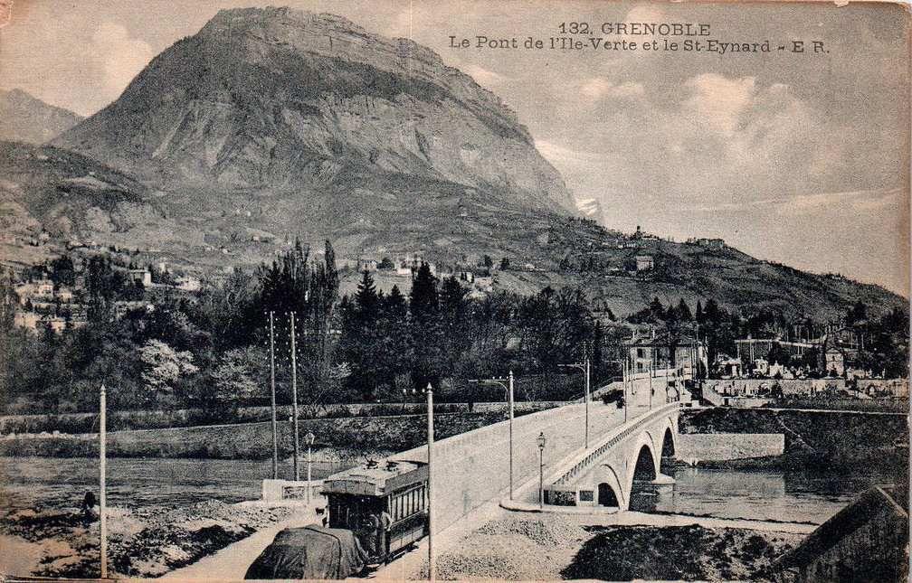 pont de l'Ile-verte à l'époque du tramway
