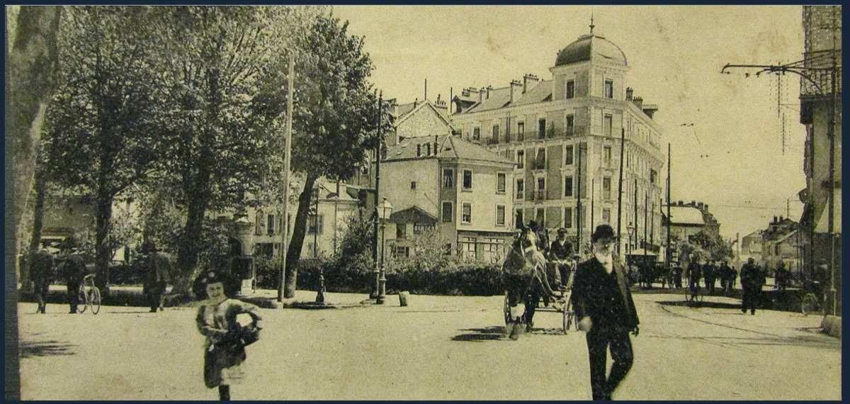 Quartier de l'Aigle avant la création de l'estacade de chemin de fer