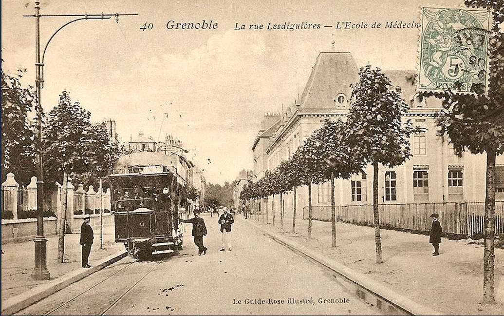 rue Lesdiguières vers le lycée Champollion