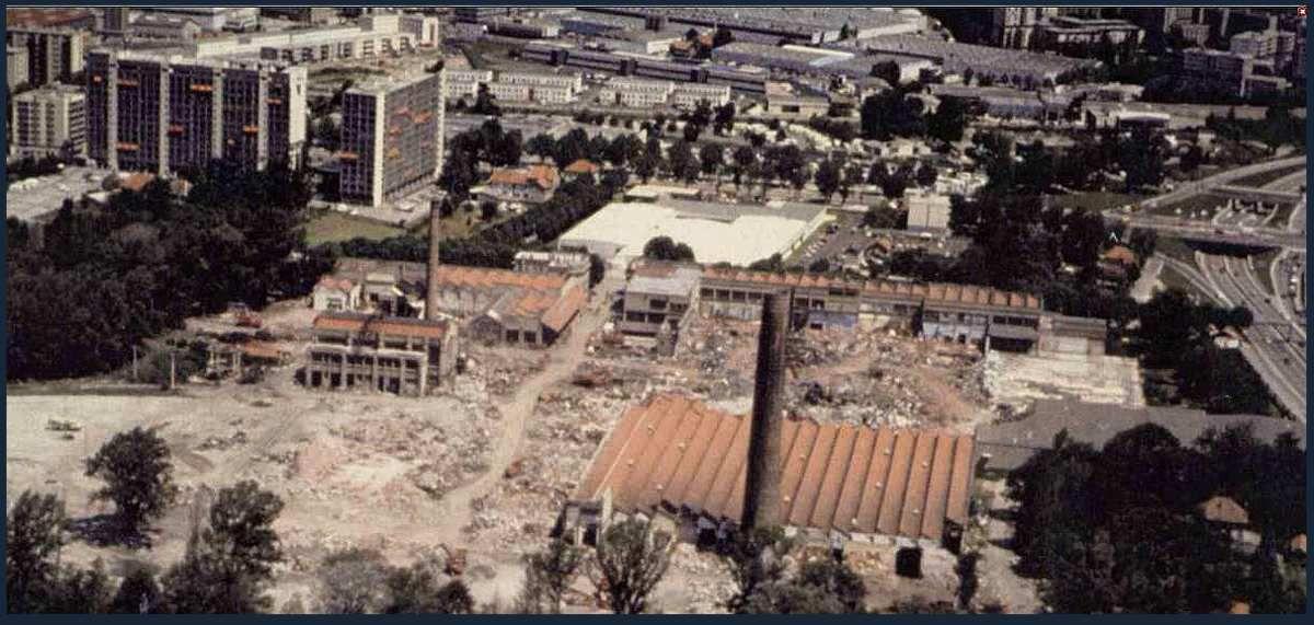 La destruction de la Viscose  (entre 1990 et 1995)