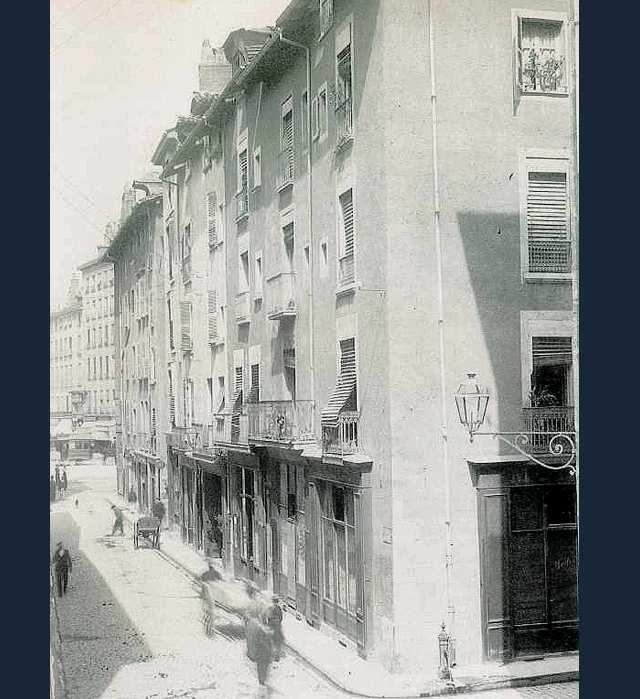Rue St françois avant élargissement rue Felix Poulat