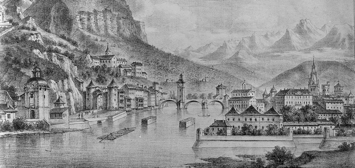 Grenoble en 1600 (Photo Bibliothèque municipale de Grenoble)