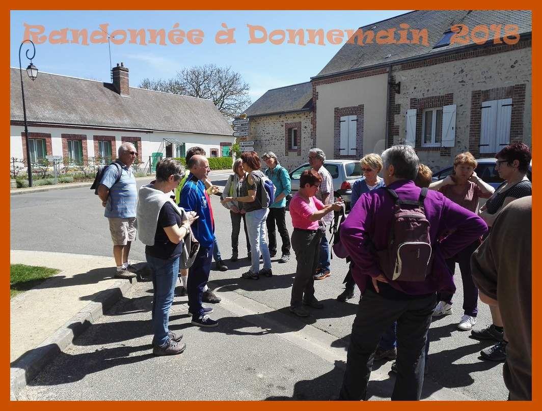 Randonnée à Donnemain avec le Jogging Club Dunois. 2018