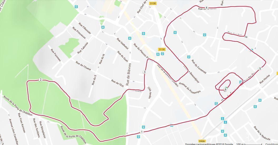 Trace GPS 5,5 km