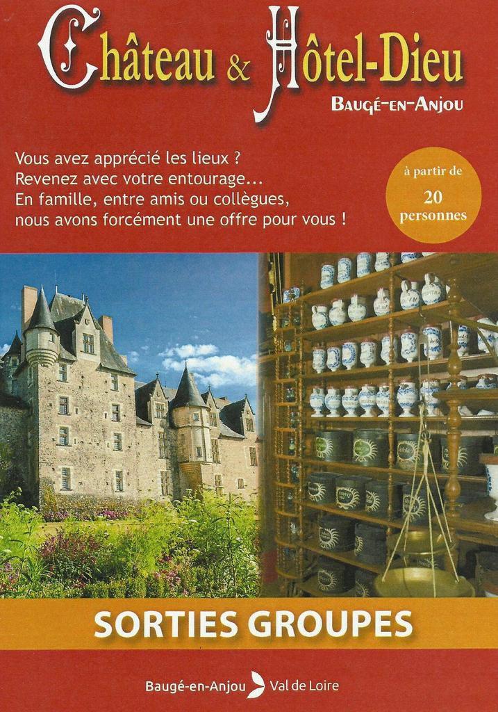 Château et Hôtel Dieu de Baugé en Anjou. 2018