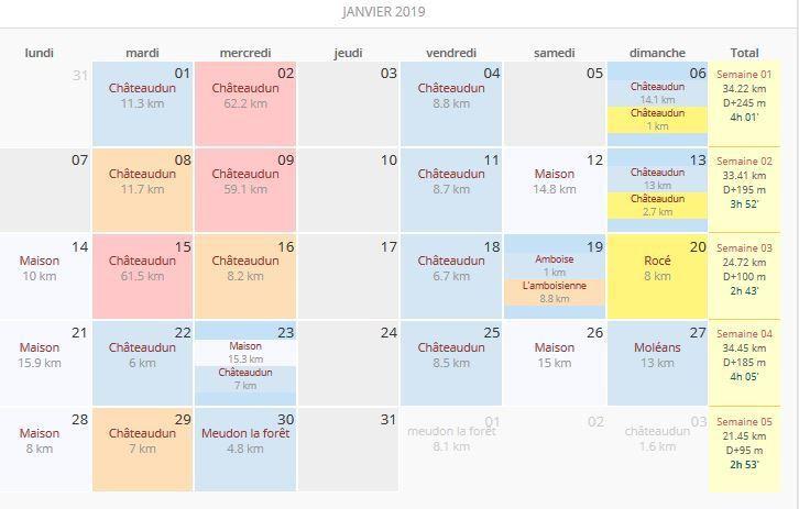 Bilan du mois de Janvier 2019.