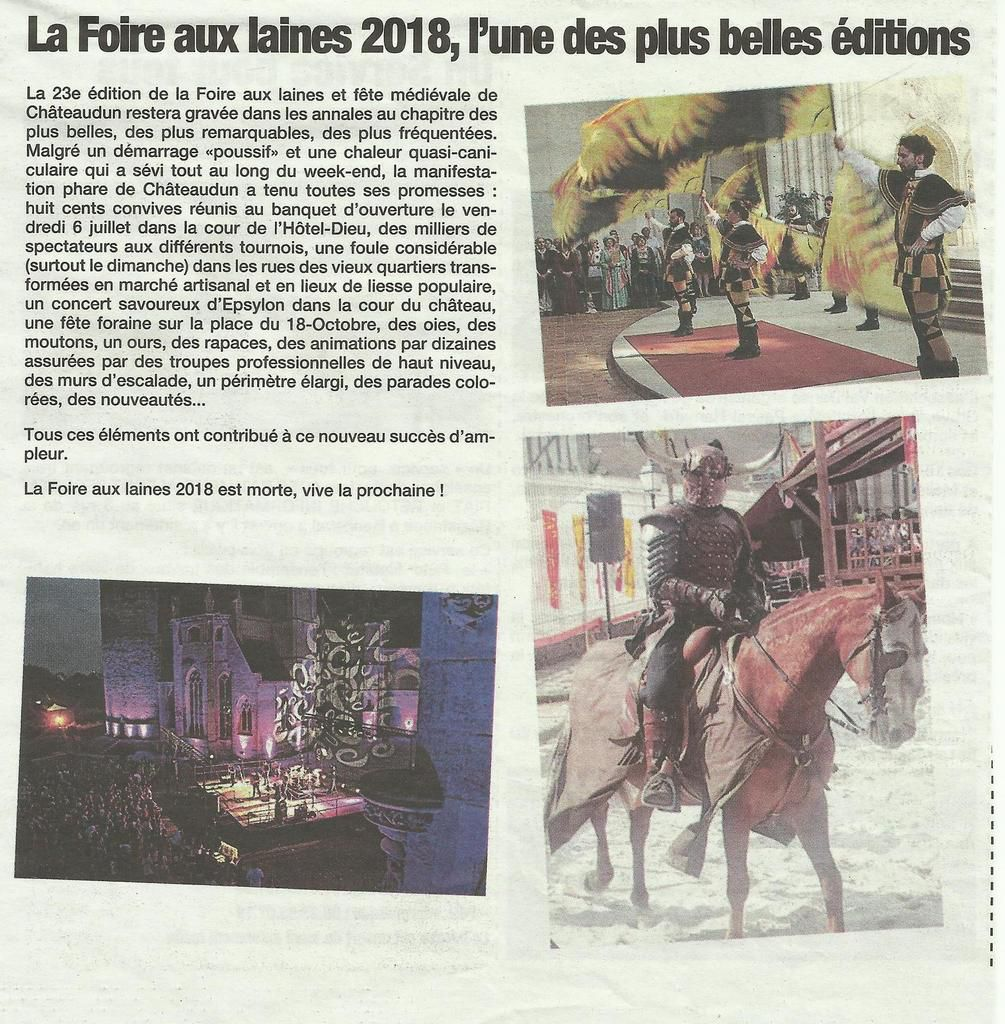 Fête médiévale à Châteaudun  2018.