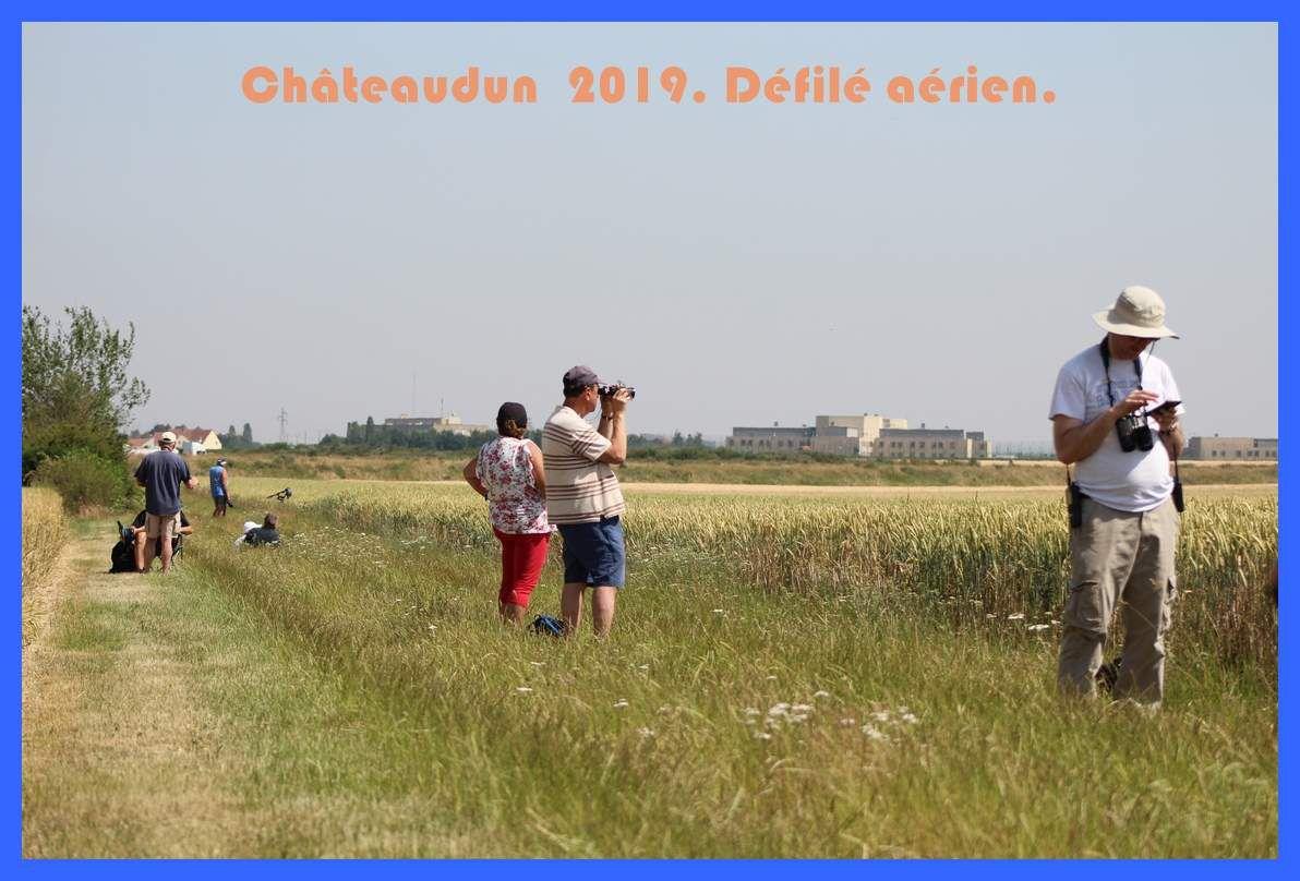 Répétition du défilé aérien du 14 juillet à Châteaudun. 2019