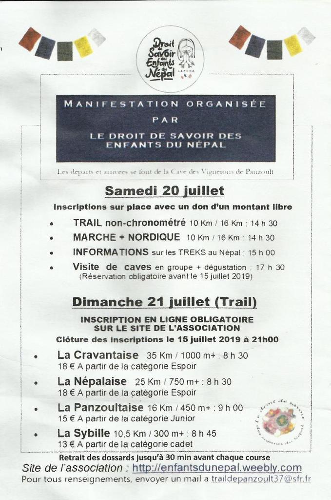 Trail des caves de Panzoult  2019.