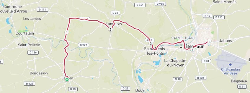 1h12 et 22 km avec D+80m