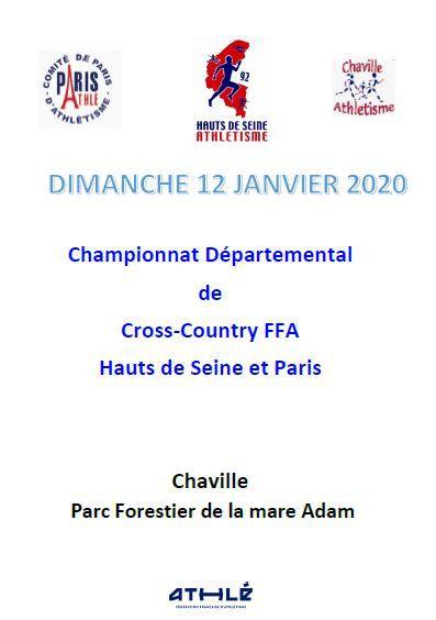 Championnat départemental de cross country à Chaville. 2020
