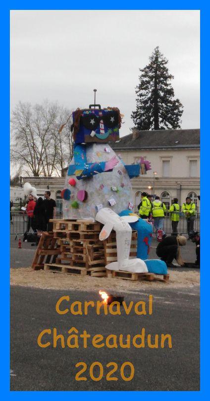 Brûlage du Roi Carvanal à Châteaudun  2020