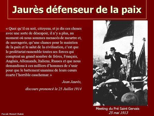 JAURES, LE 25 JUILLET 1914 - Dernier discours