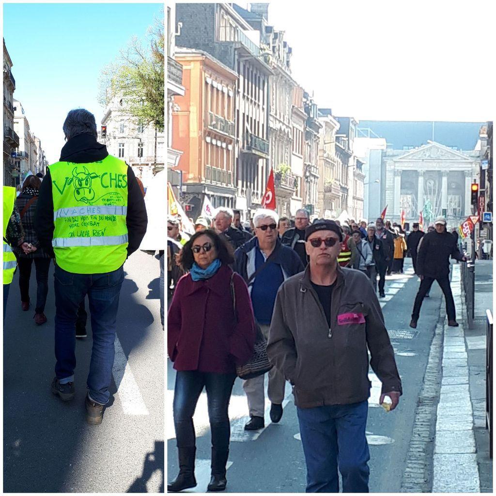 Manifestation des retraités à ROUEN - 700 pour réclamer la fin du gel des pensions, de la CSG - 700 contre la fin de notre système de retraites qui repose sur les cotisations sociales - Photos